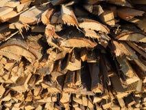 Журналы древесины кучи стоковая фотография rf