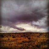 Жуткие облака Стоковое Изображение RF
