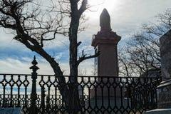 Жуткое место кладбища Стоковое фото RF