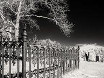 Жуткое место кладбища Стоковая Фотография RF