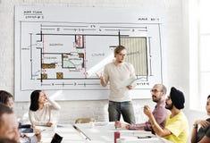 Жулик развития структуры дизайна интерьера архитектуры светокопии стоковые фотографии rf