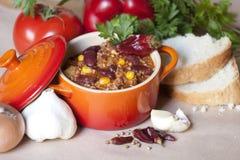 жулик chili carne Стоковое фото RF