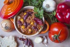 жулик chili carne Стоковые Фото