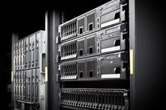 Жёсткии диски шкафа сервера Стоковые Фото