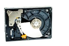 Жёсткий диск для компьютера на белой предпосылке Стоковые Фото