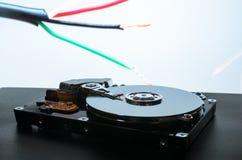 Жёсткий диск на предпосылке Сбор данных, помещать в архив важных данных Стоковое Фото