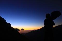 ждать восход солнца Стоковые Изображения
