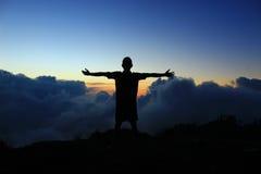 ждать восход солнца Стоковые Фото