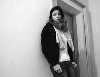 Ждать женщины Стоковая Фотография