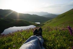 Ждать заход солнца Стоковые Изображения