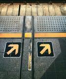 Ждать линия на платформе Стоковое фото RF