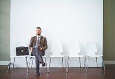 Ждать интервью Стоковое Фото