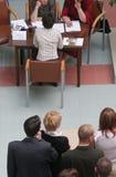 ждать людей группового интервью Стоковая Фотография