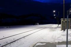 ждать поезда Стоковое Изображение
