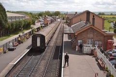 Ждать поезд пара Стоковое Фото