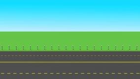заасфальтированная дорога иллюстрация вектора