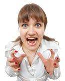 забавляя вспугнутые детеныши женщины окриков Стоковое Фото