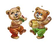 Забавляя медведи иллюстрация штока