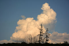 Забавное облако на горизонте Стоковое Фото