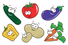 забавные овощи Стоковые Изображения RF