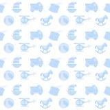 Забавляется безшовная картина Vector безшовная картина для детского душа, ткани, предпосылки с игрушками doodle Стоковые Изображения RF