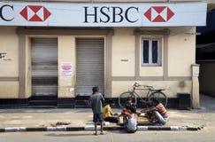 Забастовка банка стоковая фотография