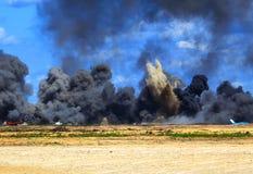 Забастовка бомбы авиации Стоковое Изображение RF