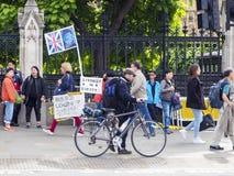 Забастовка в Вестминстере, Brexit, Лондоне Стоковое Фото