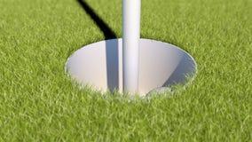 Забастовка гольфа замедленного движения Анимация шара для игры в гольф зеленый экран бесплатная иллюстрация