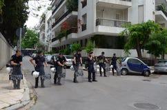 забастовка Греции athenes Стоковое Изображение