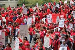 Забастовка Чiкаго a учителей стоковая фотография
