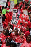Забастовка Чiкаго e учителей стоковые фото