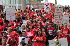 Забастовка Чiкаго g учителей стоковые изображения