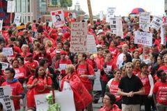 Забастовка Чiкаго h учителей стоковые изображения rf