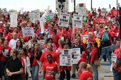 Забастовка Чiкаго i учителей стоковые изображения