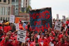 Забастовка Чiкаго m учителей стоковое фото