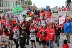 Забастовка Чiкаго q учителей стоковое фото