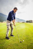забастовки игрока гольфа центра событий Стоковое Изображение