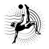 Забастовщик футбола иллюстрация вектора
