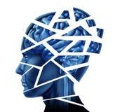 заболевание мозга иллюстрация штока