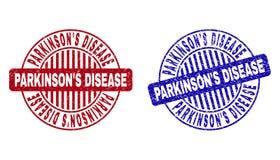"""ЗАБОЛЕВАНИЕ S PARKINSON Grunge """"текстурированное вокруг уплотнений печати иллюстрация вектора"""