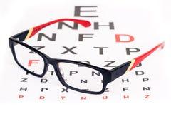 Забота глаза с стеклами Стоковое Изображение RF