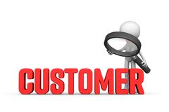 Забота и поддержка клиента стоковое изображение rf