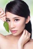 Забота кожи и органические косметики Стоковое фото RF