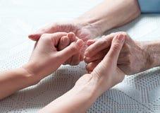 Забота дома пожилых людей Стоковые Фото