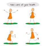 Забота человека 4 значков вашего здоровья Стоковое Фото
