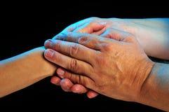 заботливые руки Стоковая Фотография