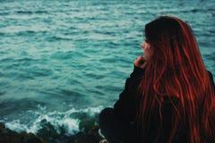 Заботливый около моря Стоковое Изображение