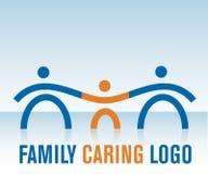 заботя логос семьи Стоковые Изображения