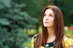 Заботливая женщина outdoors стоковая фотография rf